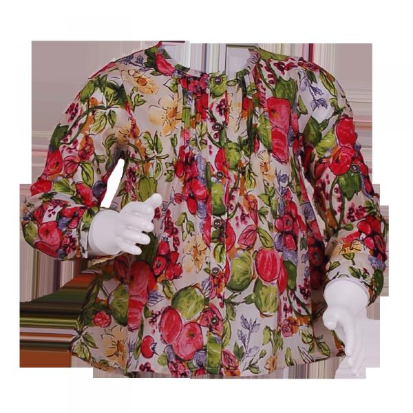 Фото: Туника с ягодным принтом (артикул O 30106-flowers)
