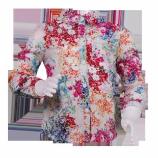 . Блузка для девочки на 1 год с ярким рисунком