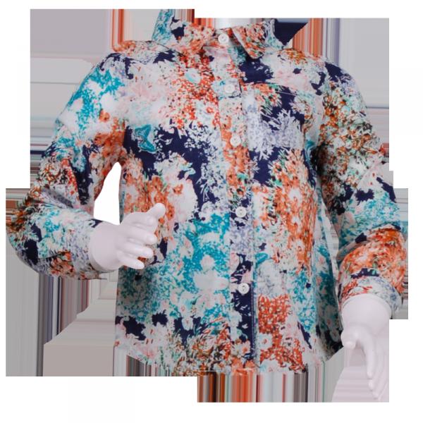 Фото: Рубашка с ярким принтом (артикул O 30129-different)