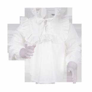 . Блузка для  девочки белого цвета