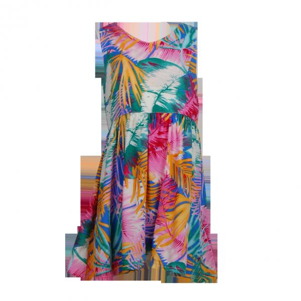 Фото: Цветное платье с бантом на спине (артикул O 50306-green)