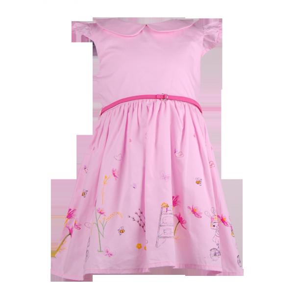 Фото: Розовое платье для девочки на лето (артикул O 50319-light pink)
