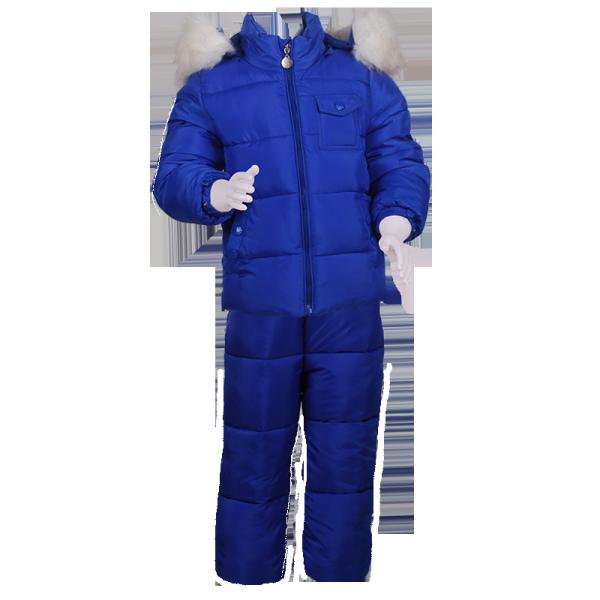 Фото: Очень теплый и качественный детский костюм  (артикул O 70041-blue)
