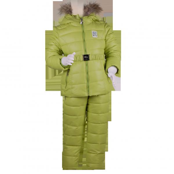 Фото: Зимний костюм Богнер для девочки (артикул O 70051-light green)