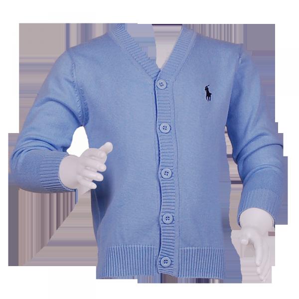 Фото: Детская кофточка светло-голубого цвета (артикул RL 20001-light blue)