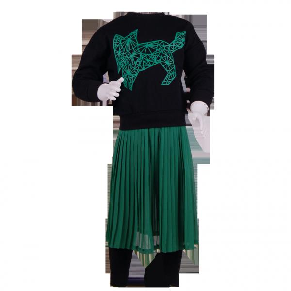 Фото: Стильный костюм для девочки Zara (артикул Z 50190-green)