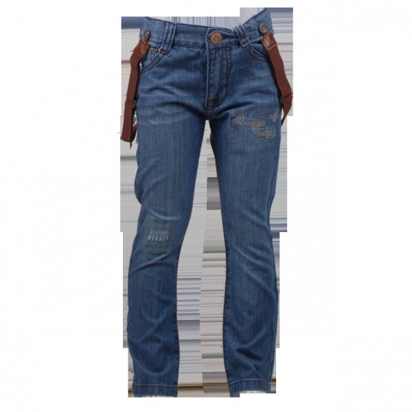 Фото: Джинсы с подтяжками (артикул Z 60146-jeans)