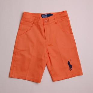 Фото: Ярко оранжевые детские шорты с лого POLO (артикул Rl 60010-orange) - изображение 3