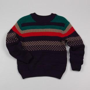Фото: Вязаный свитер с орнаментом для мальчика (артикул Z 20039-different) - изображение 3