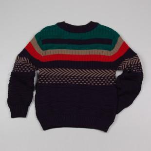 Фото: Вязаный свитер с орнаментом для мальчика (артикул Z 20039-different) - изображение 4