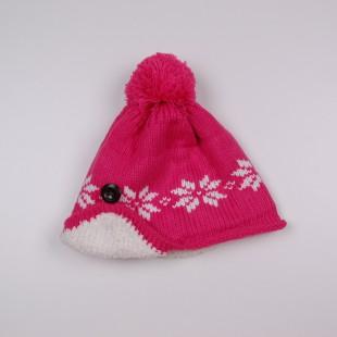. Шапка розового цвета  с орнаментом