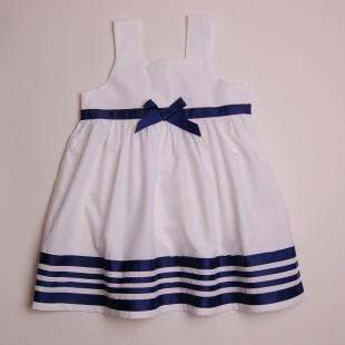 Фото: Платье с полосами на кромке (артикул O 50201-white) - изображение 3
