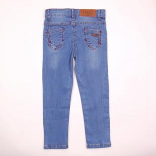 Фото: Лёгкие джинсы с потёртостями  (артикул O 60050-jeans) - изображение 4