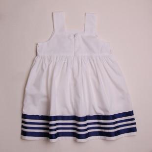 Фото: Платье с полосами на кромке (артикул O 50201-white) - изображение 4