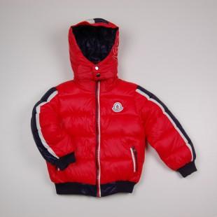 Фото: Синтипоновая зимняя куртка с капюшоном (артикул O 10179-red) - изображение 3