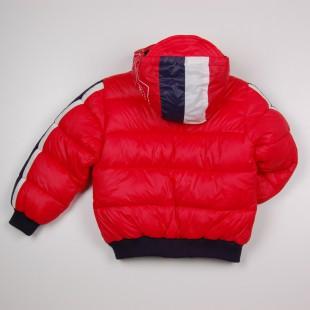 Фото: Синтипоновая зимняя куртка с капюшоном (артикул O 10179-red) - изображение 4