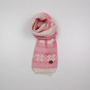 . Шарф розовый с орнаментом