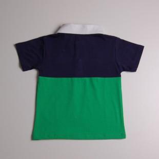 Фото: Футболка фирменная с воротником и логотипом (артикул Gp 40031-blue-green) - изображение 4