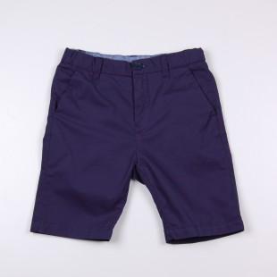 Фото: Темно-синие шорты удлиненные до колен (артикул O 60077-deep blue) - изображение 3