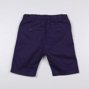 Фото: Темно-синие шорты удлиненные до колен (артикул O 60077-deep blue) - изображение 4