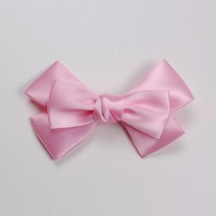 Заколка-бант светло-розового цвета