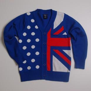 Фото: Кофта с флагом и звездами. (артикул Gp 20014-blue) - изображение 3