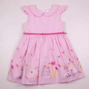Фото: Розовое платье для девочки на лето (артикул O 50319-light pink) - изображение 3