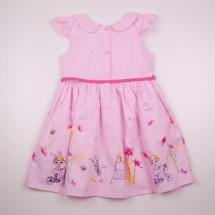 Фото: Розовое платье для девочки на лето (артикул O 50319-light pink) - изображение 4