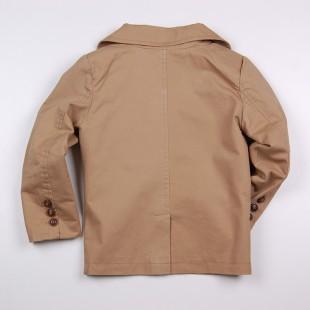 Фото: Классический пиджак бежевого цвета мальчику (артикул Z 10119-beige) - изображение 4