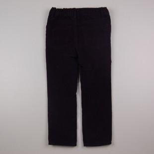Фото: Чёрные вельветовые штаны (артикул O 60109-black) - изображение 4