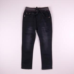 Фото: Тёмные джинсы с потёртостями (артикул Z 60241-black) - изображение 3