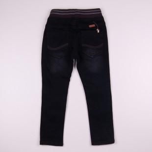Фото: Тёмные джинсы с потёртостями (артикул Z 60241-black) - изображение 4
