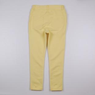 Фото: Леггинсы желтого цвета для девочки (артикул O 60111-yellow) - изображение 4