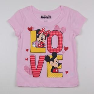 Фото: Футболка Mickey and Minnie Mouse  (артикул O 40115-light pink) - изображение 3