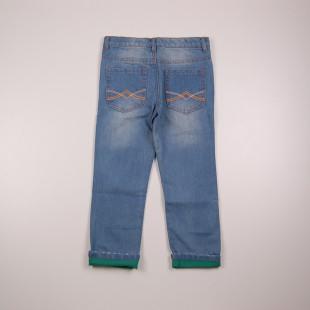 Фото: Джинсы с цветной подкладкой (артикул Z 60133-jeans) - изображение 4
