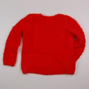Фото: Свитер с удлиненной спинкой красного цвета (артикул O 20119-red) - изображение 4
