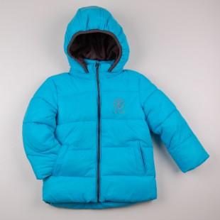 Фото: Стеганая куртка с капюшоном (артикул O 10221-azure) - изображение 3