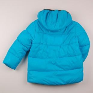 Фото: Стеганая куртка с капюшоном (артикул O 10221-azure) - изображение 4