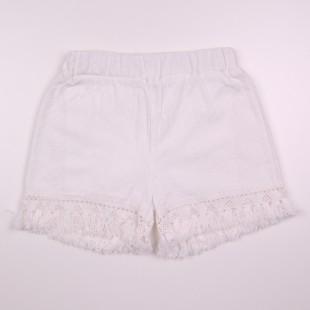 Фото: Белые шорты для девочки Zara (артикул Z 60262-white) - изображение 3
