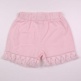 Фото: Детские шорты с бахромой (артикул Z 60262-light pink) - изображение 3
