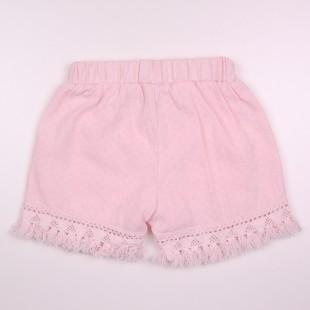 Фото: Детские шорты с бахромой (артикул Z 60262-light pink) - изображение 4