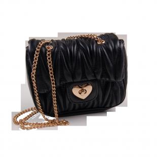 Стёганая сумочка с замочком в виде сердечка