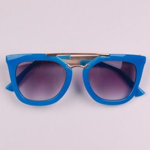 Фото: Яркие летние очки стильного фасона (артикул A 50043-blue) - изображение 4