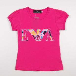 Фото: Розовая футболка для маленьких девочек (артикул O 40099-pink) - изображение 3