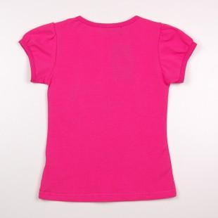 Фото: Розовая футболка для маленьких девочек (артикул O 40099-pink) - изображение 4