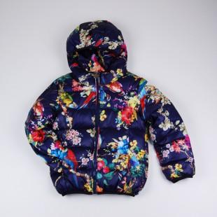Фото: Тёплая куртка с ярким принтом (артикул Gp 10011-deep blue) - изображение 3