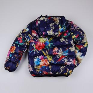 Фото: Тёплая куртка с ярким принтом (артикул Gp 10011-deep blue) - изображение 4