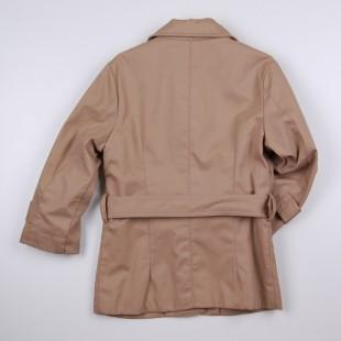 Фото: Плащ на пуговицах с накладными карманами (артикул O 10212-beige) - изображение 4