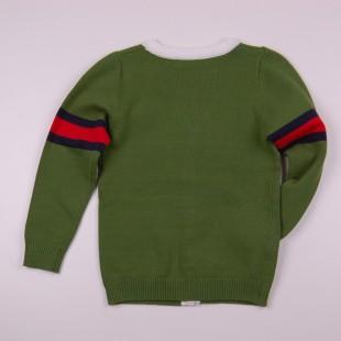 Фото: Кофта на пуговицах Armani  зеленого цвета (артикул O 20133-green) - изображение 4