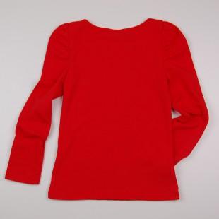 Фото: Кофточка  с длинным рукавом с принтом  (артикул O 30160-red) - изображение 4